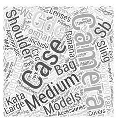 camera bag kata Word Cloud Concept vector image