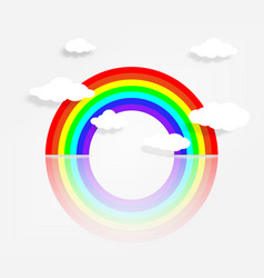 Circle rainbow with reflection vector