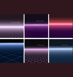collection of abstract futuristic backgrounds with vector image