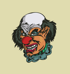Crazy clown vector