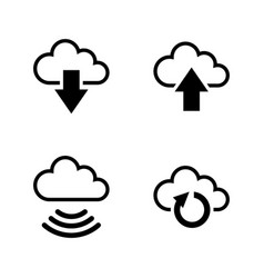 data synchronisation simple related icons vector image