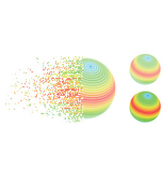 decomposed dot halftone abstract sphere spectrum vector image