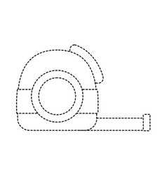 Dotted shape measuring contruction equiment tool vector
