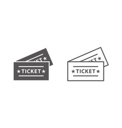 event tickets icons 2 vector image