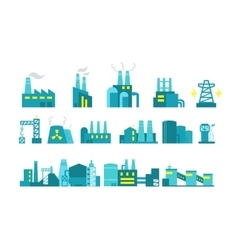 Extraction petroleum set of factory vector