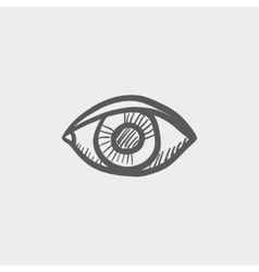 Eye sketch icon vector