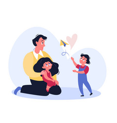 Father time cartoon flat vector