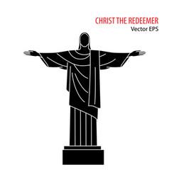flat icon christ redeemer rio de vector image