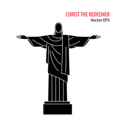 flat icon of christ the redeemer rio de vector image