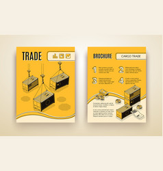 global trading company isometric brochure vector image