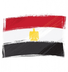 grunge egypt flag vector image