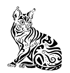 Hiqh quality egyptian cat for coloring vector image