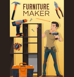 Home furniture assembly making and installation vector