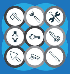 Instrument icons set collection of timer vector