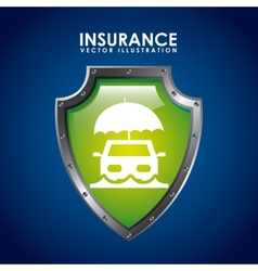 insurance icon vector image