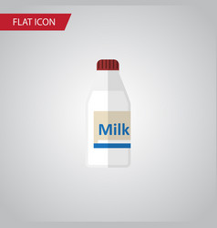 Isolated milk flat icon bottle element can vector