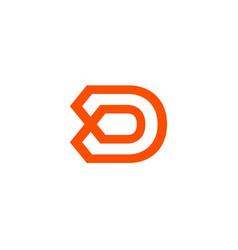 letter d logo design abstract logo icon design vector image