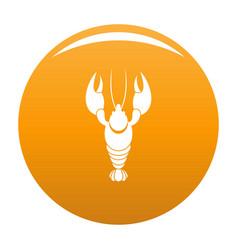 Lobster icon orange vector