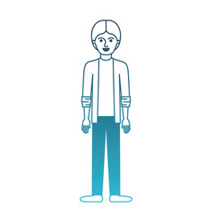 Man full body with shirt and jacket and pants and vector