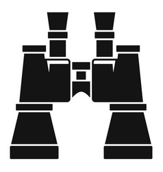 military binocular icon simple style vector image