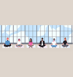 office workers dressed in smart clothes sit with vector image