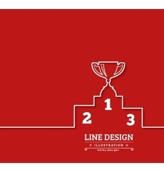 Pedestal thin line icon vector