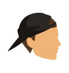 Profile young man head icon vector