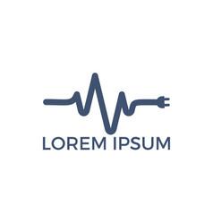 pulse electrical logo design vector image
