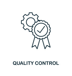 Quality control icon outline style thin line vector