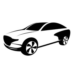 race car symbol logo template stylized silhouette vector image
