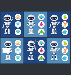 Robots of modern type set vector