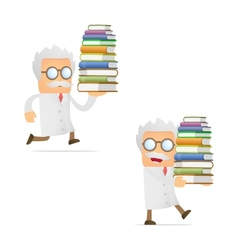scientist with books vector image