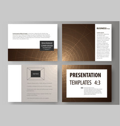 Set business templates for presentation slides vector