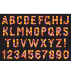 Set of letters and numbers of colors vector image