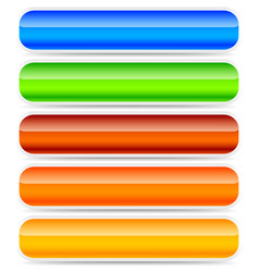 set of oblong button banner backgrounds in vector image