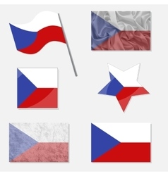 Set with flags of czech republic vector