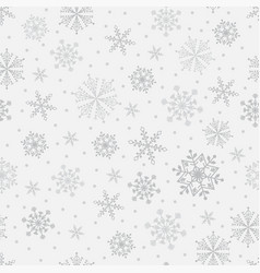 Snowflake seamless pattern weather vector