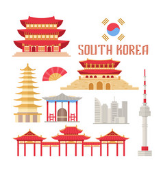 south korea showplace flat vector image