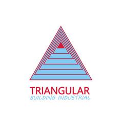 triangular building industrial logo vector image