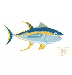 Tuna cartoon vector