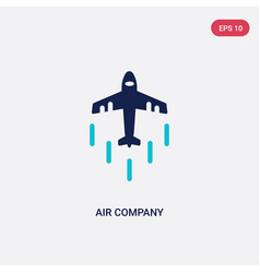 Two color air company icon from airport terminal vector