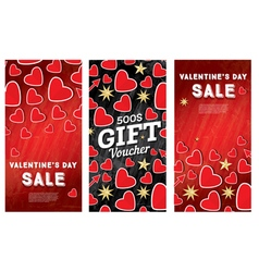 Valentines Day Sale Banner Set vector image