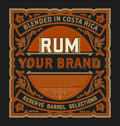 Vintage liquor label for packing layered vector
