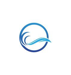 wave beach water logo vector image