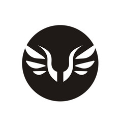 wings logo design vector image