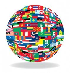 ball flag vector image vector image
