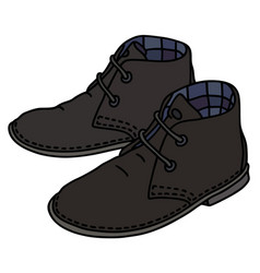 black suede shoes vector image vector image