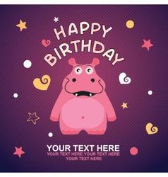 cute happy birthday card vector image vector image