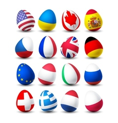 egg flags vector image
