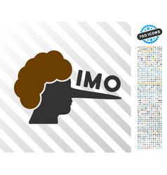 Imo lier flat icon with bonus vector